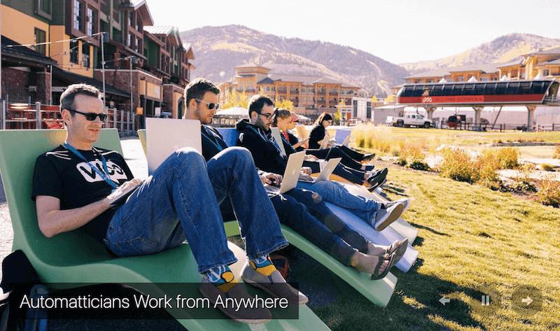 WordPressの運営会社として有名な「Automattic」はリモートワークを推奨している