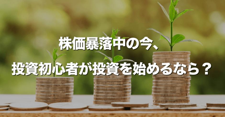 株価暴落中の今、投資初心者が投資を始めるなら?妻の投資設定を大公開